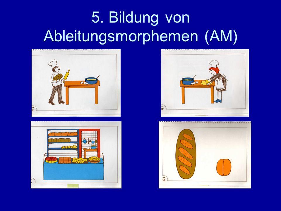 5. Bildung von Ableitungsmorphemen (AM)