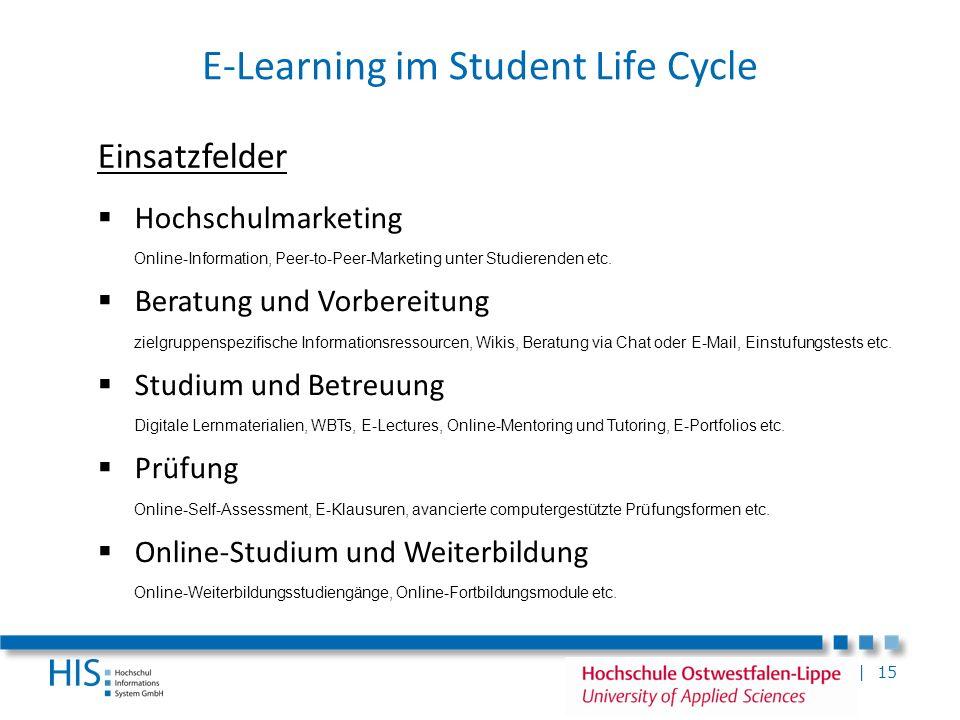 | 15 Hochschulmarketing Online-Information, Peer-to-Peer-Marketing unter Studierenden etc. Beratung und Vorbereitung zielgruppenspezifische Informatio