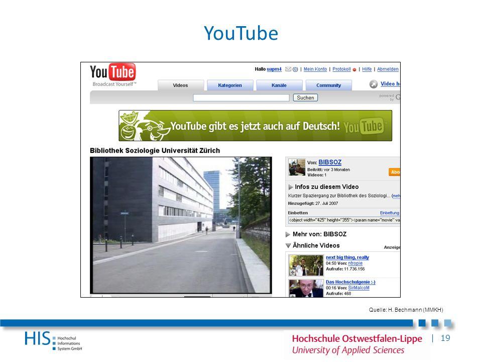 | 19 YouTube Quelle: H. Bechmann (MMKH)
