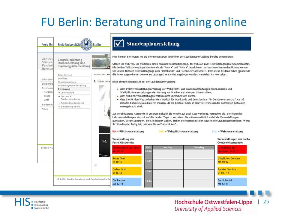 | 25 FU Berlin: Beratung und Training online
