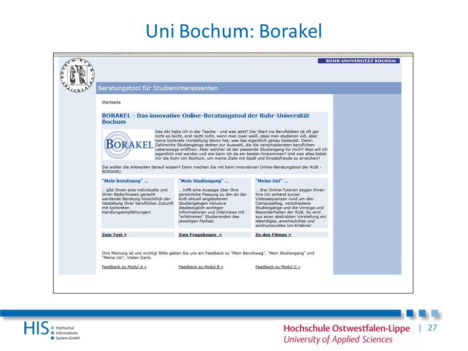| 27 Uni Bochum: Borakel