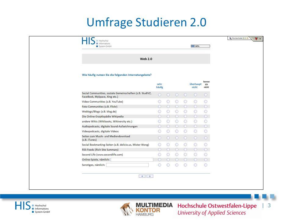 | 3 Umfrage Studieren 2.0