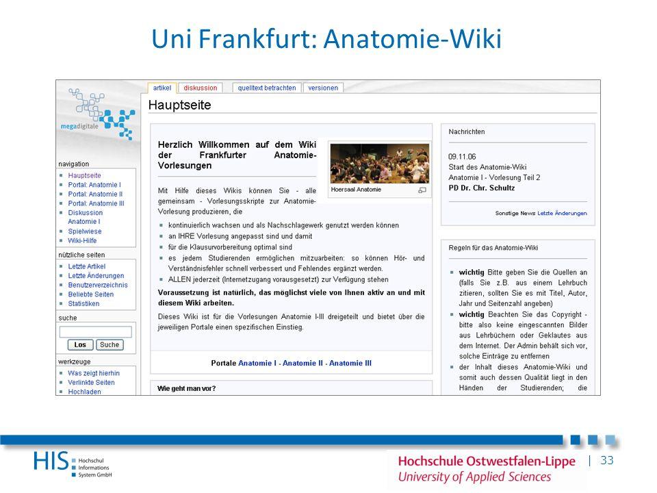 | 33 Uni Frankfurt: Anatomie-Wiki