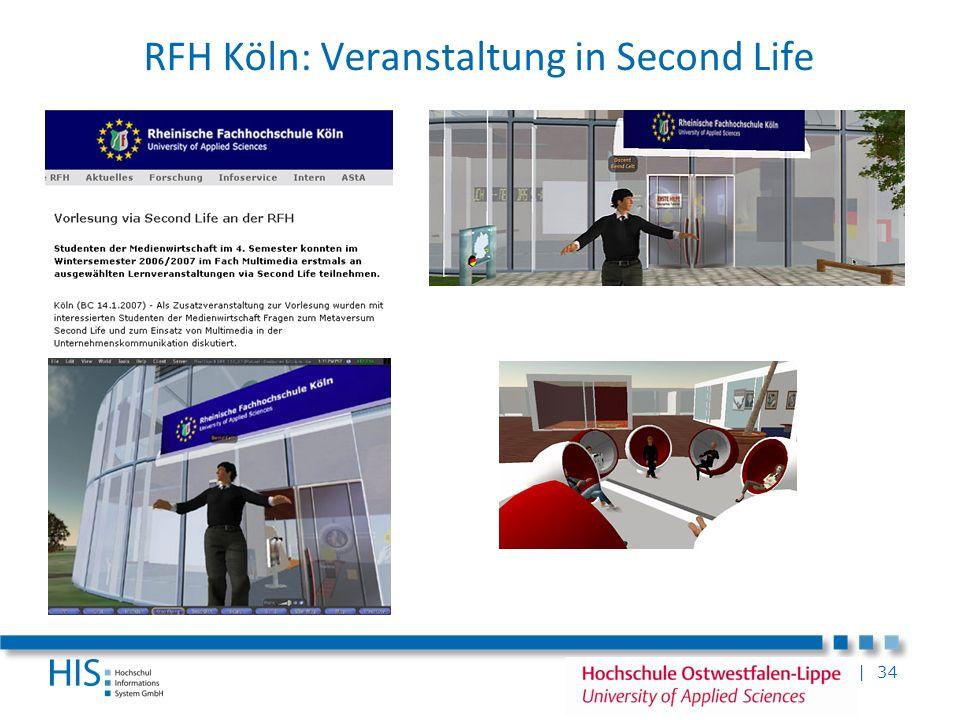| 34 RFH Köln: Veranstaltung in Second Life