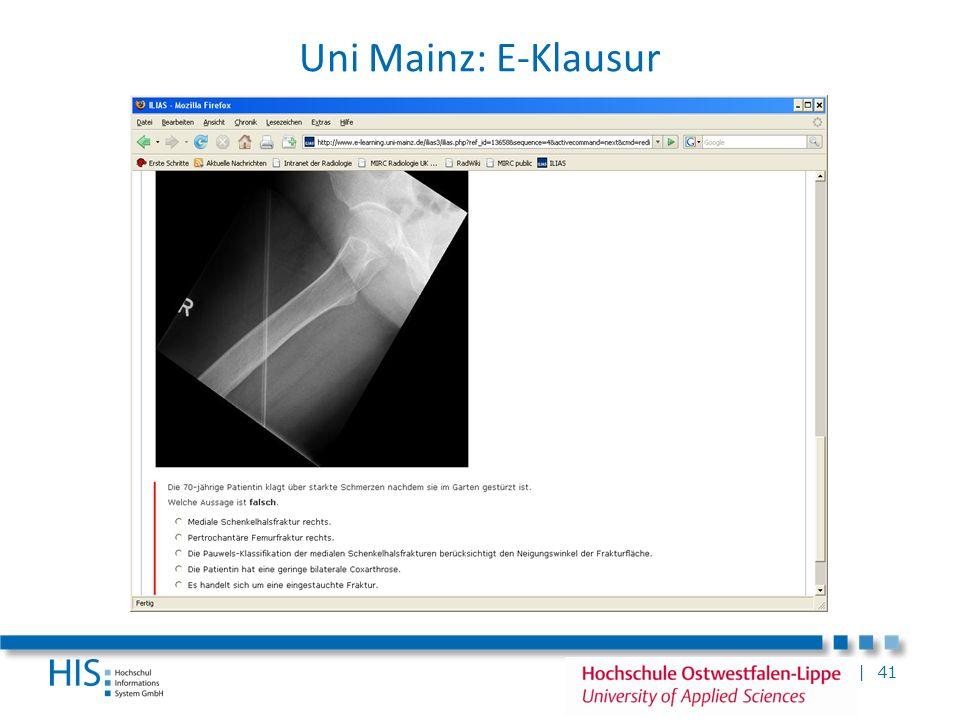 | 41 Uni Mainz: E-Klausur