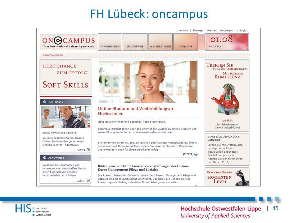 | 45 FH Lübeck: oncampus