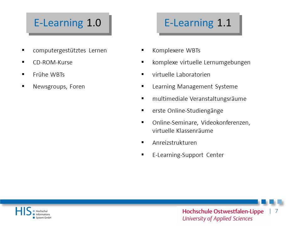 | 7 Komplexere WBTs komplexe virtuelle Lernumgebungen virtuelle Laboratorien Learning Management Systeme multimediale Veranstaltungsräume erste Online