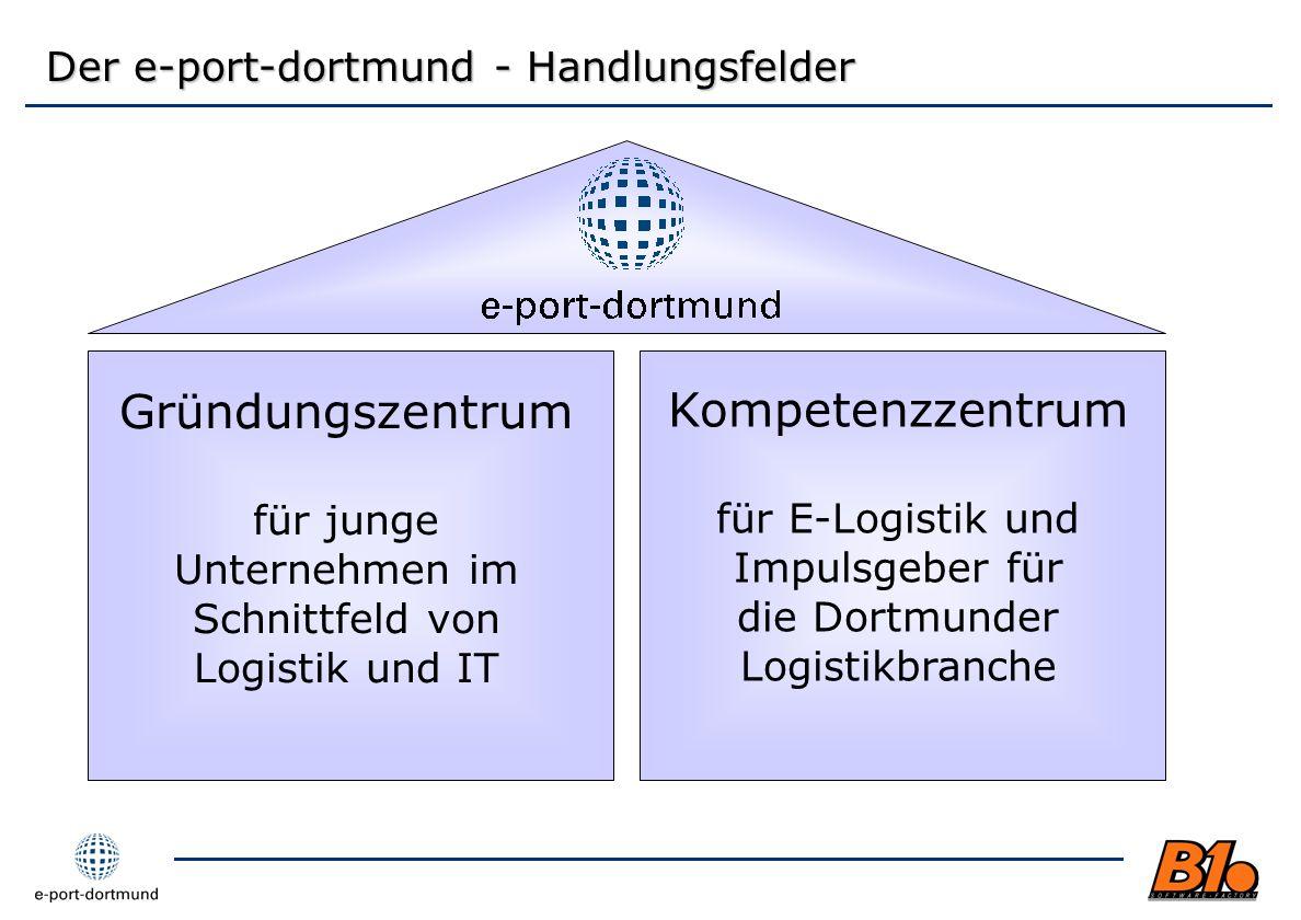 Gründungszentrum für junge Unternehmen im Schnittfeld von Logistik und IT Der e-port-dortmund - Handlungsfelder Kompetenzzentrum für E-Logistik und Im