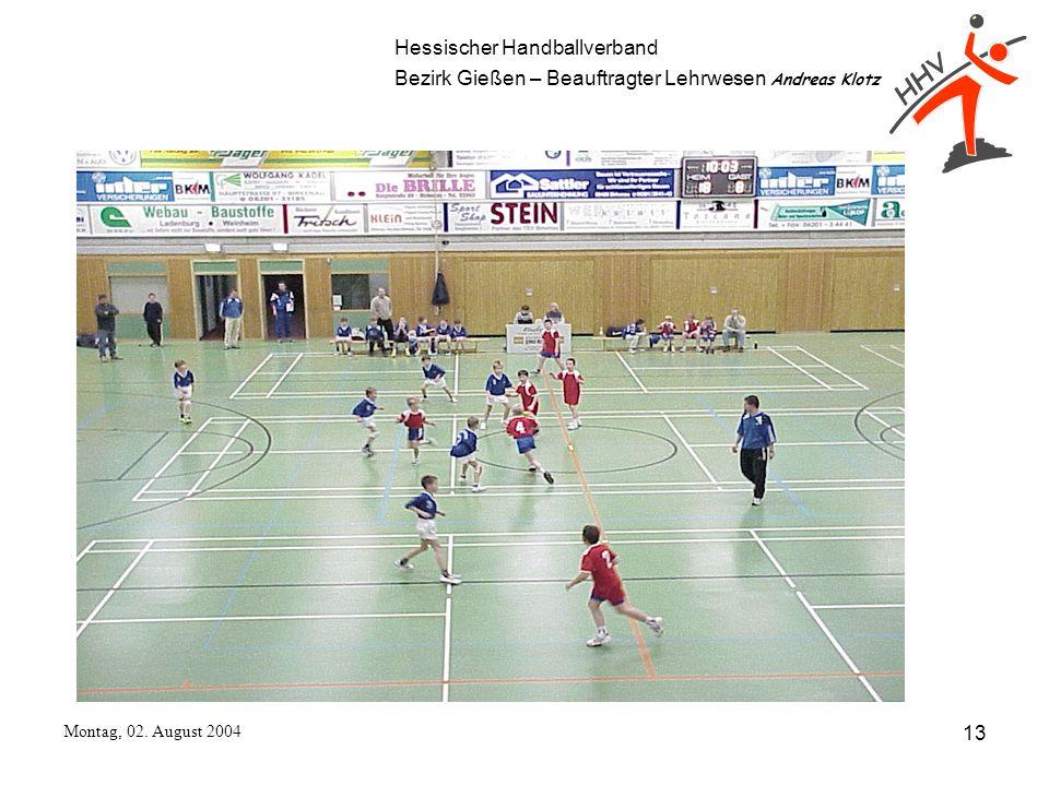 Hessischer Handballverband Bezirk Gießen – Beauftragter Lehrwesen Andreas Klotz Montag, 02. August 2004 13