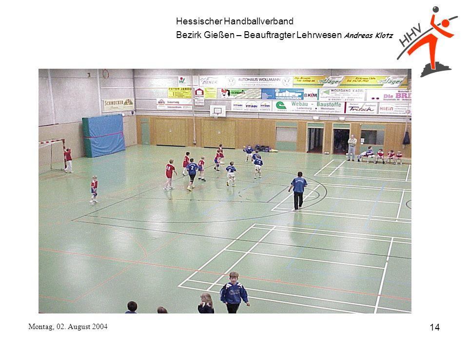 Hessischer Handballverband Bezirk Gießen – Beauftragter Lehrwesen Andreas Klotz Montag, 02. August 2004 14