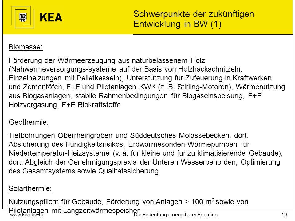 www.kea-bw.deDie Bedeutung erneuerbarer Energien18 REG-Minderungspotenziale und – kosten in Baden-Württemberg