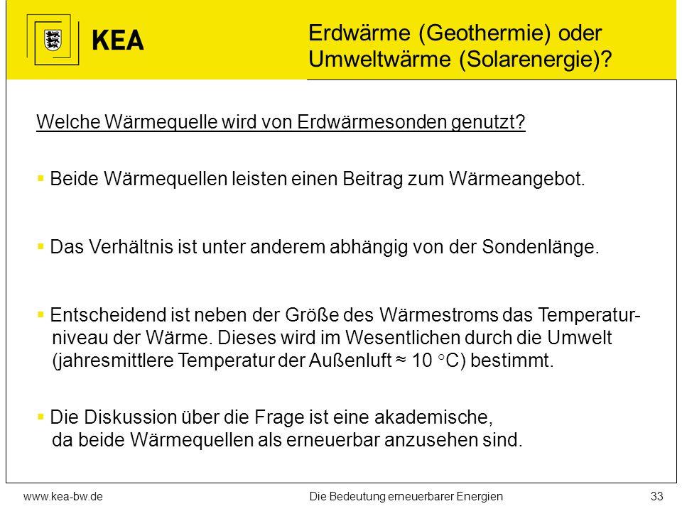 www.kea-bw.deDie Bedeutung erneuerbarer Energien32 Temperaturverlauf im Erdboden