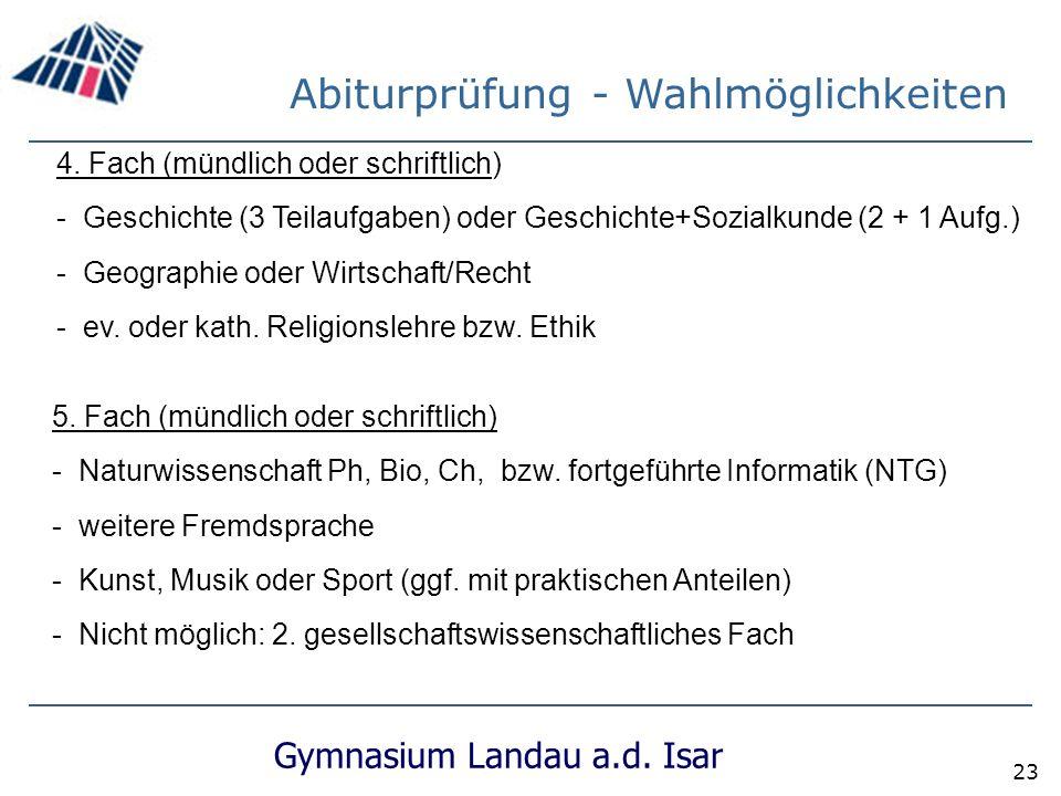 Gymnasium Landau a.d.Isar 23 5.