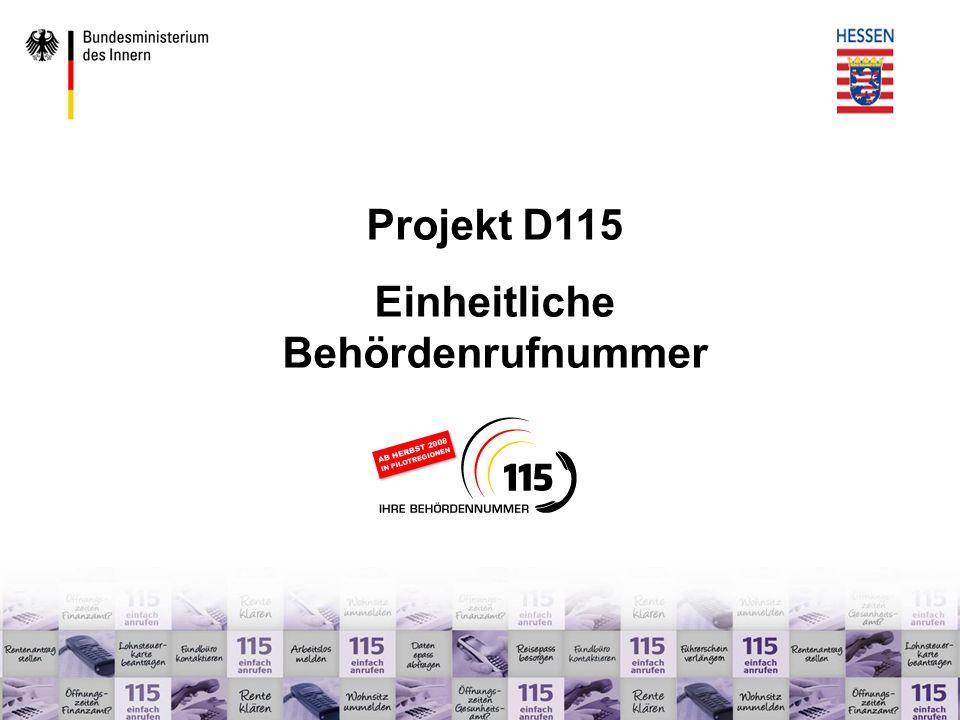 www.d115.de DAG 3 – Serviceversprechen, Qualitätsmanagement Definition des Serviceversprechens Servicelevel u.a.