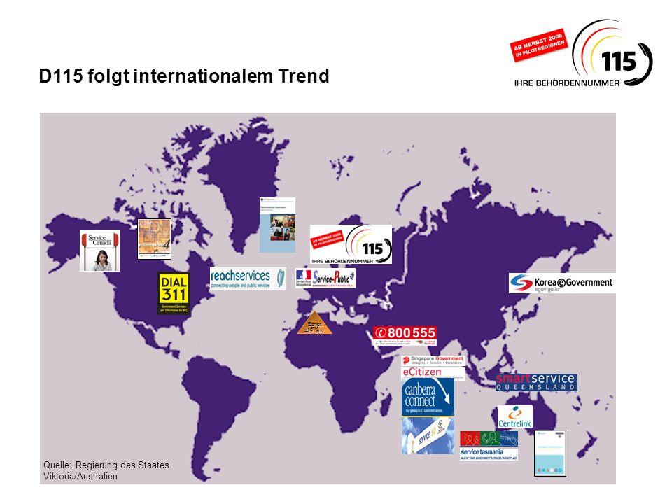 www.d115.de Quelle: Regierung des Staates Viktoria/Australien D115 folgt internationalem Trend Egypt #19 Gov