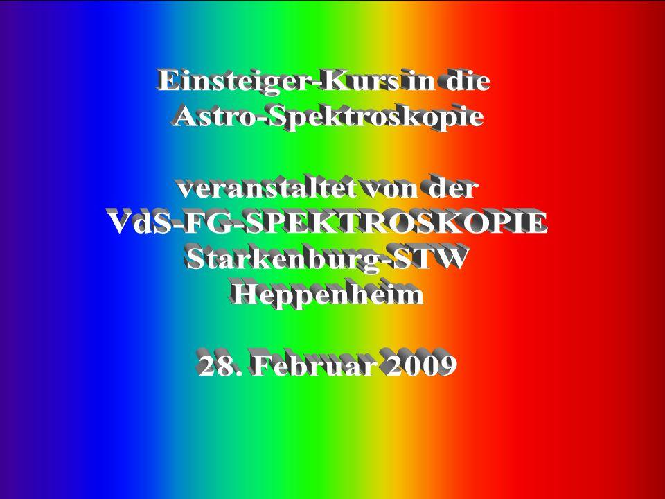 Scannung des Summenspektrums Scannung des Neon-Kalibrationsspektrums Anwendung des Programmes MAXIM-DL 4