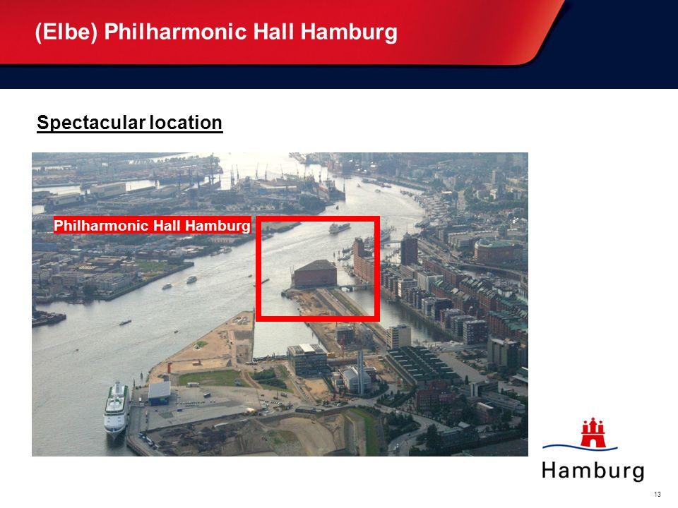 Oberthema... (weiß) Bitte überschreiben. Unterthema... (blau) Bitte überschreiben. 13 (Elbe) Philharmonic Hall Hamburg Spectacular location Philharmon