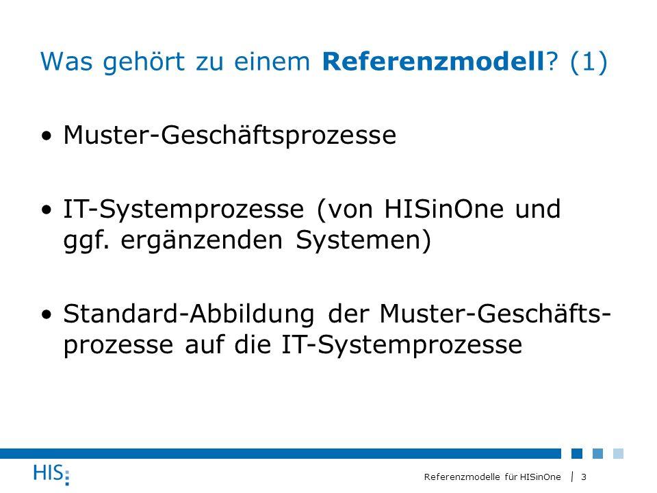3 Referenzmodelle für HISinOne Was gehört zu einem Referenzmodell.