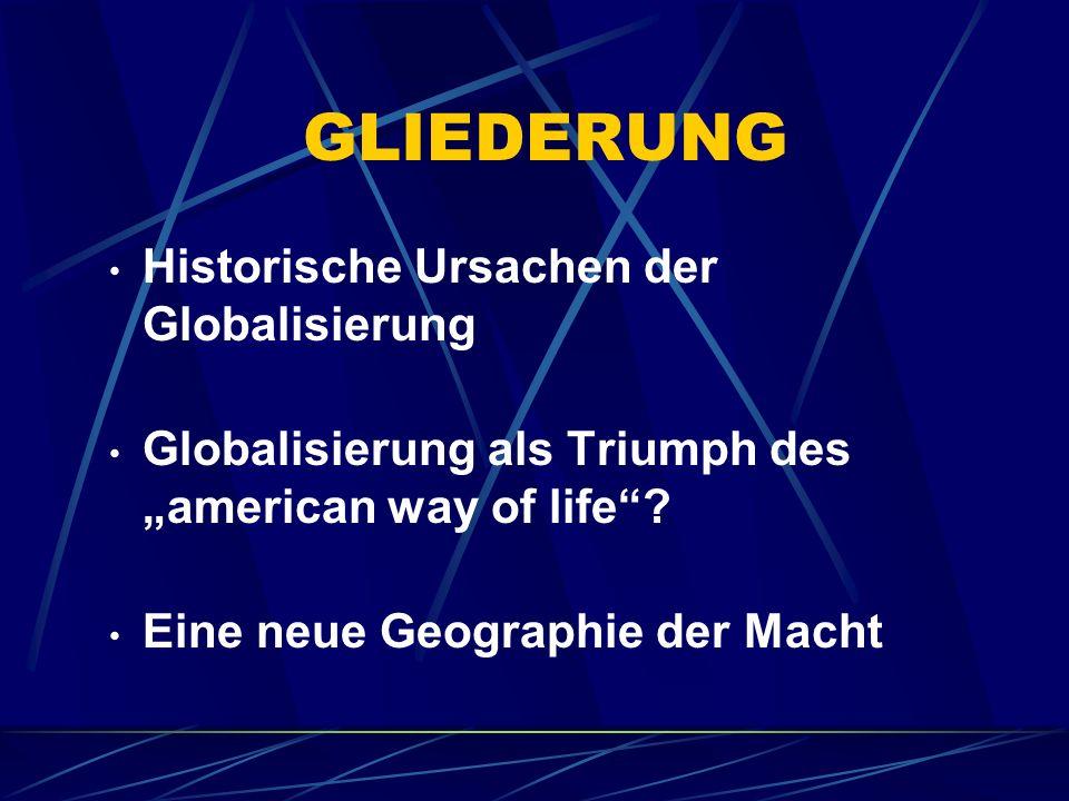 Ursachen der Globalisierung Erste These Globalisierung (Liberalisierung, Privatisierung, Deregulierung, Informalisierung der Märkte) als Antwort auf die ökonomische Krise (stagflation) im anglo- amerikanischen Kapitalismus (Fordismus) der 70er Jahre