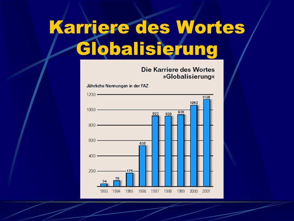 Karriere des Wortes Globalisierung