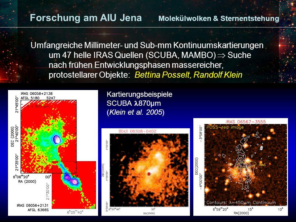Kartierungsbeispiele SCUBA 870μm (Klein et al.