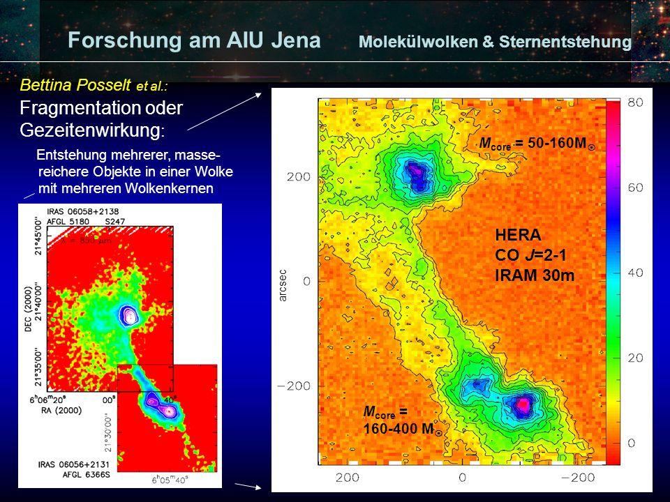 Forschung am AIU Jena Interferometrische Untersuchungen von massereicher Sternentstehung (Plateau de Bure Interferometer, VLA): Jan Forbrich, K.
