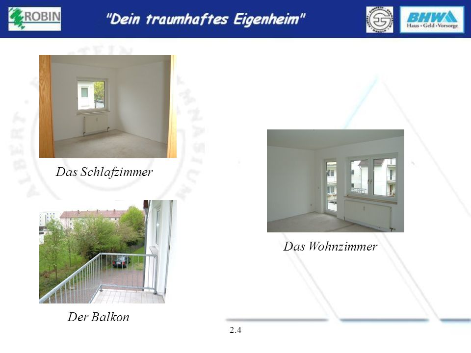2.3 Der Hauseingang Das Badezimmer Die Küche