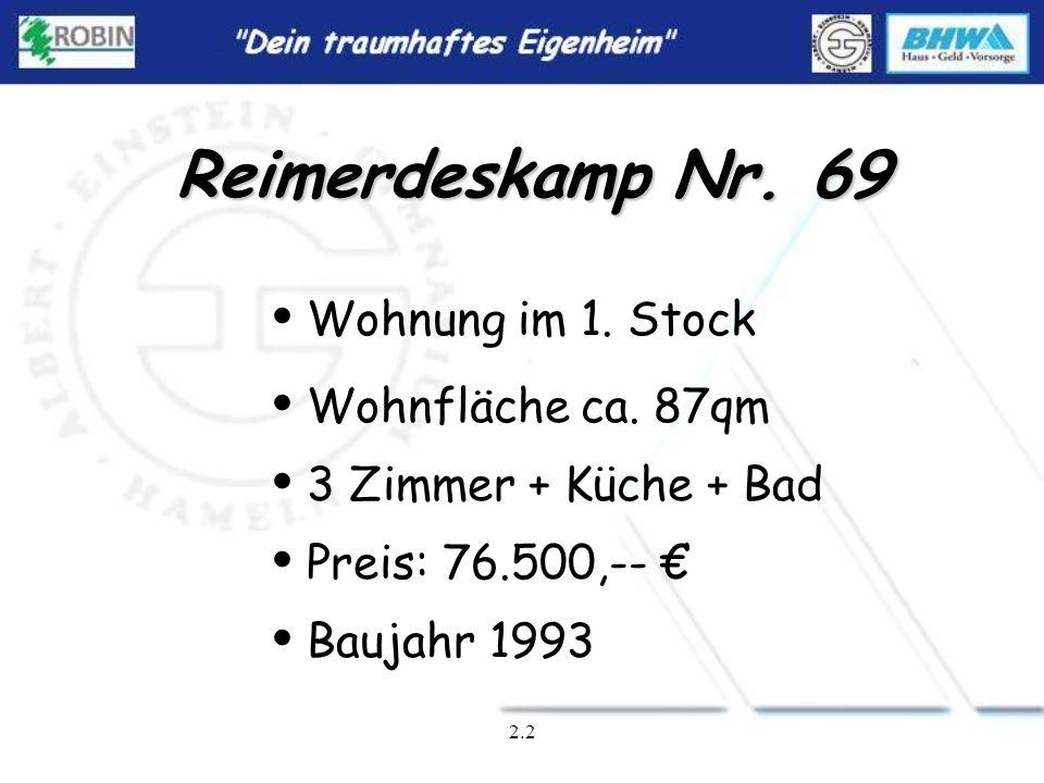 2.1 Reimerdeskamp Nr. 69