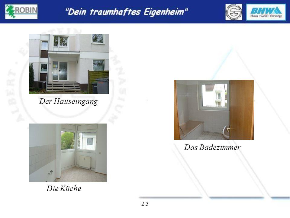 2.2 Wohnung im 1. Stock Wohnfläche ca. 87qm 3 Zimmer + Küche + Bad Preis: 76.500,-- Baujahr 1993 Reimerdeskamp Nr. 69