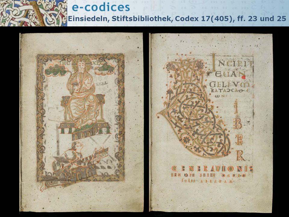 Einsiedeln, Stiftsbibliothek, Codex 17(405), ff. 23 und 25