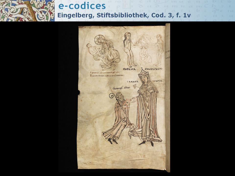 Eingelberg, Stiftsbibliothek, Cod. 3, f. 1v
