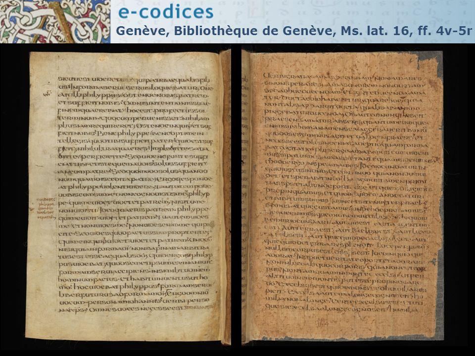 Genève, Bibliothèque de Genève, Ms. lat. 16, ff. 4v-5r