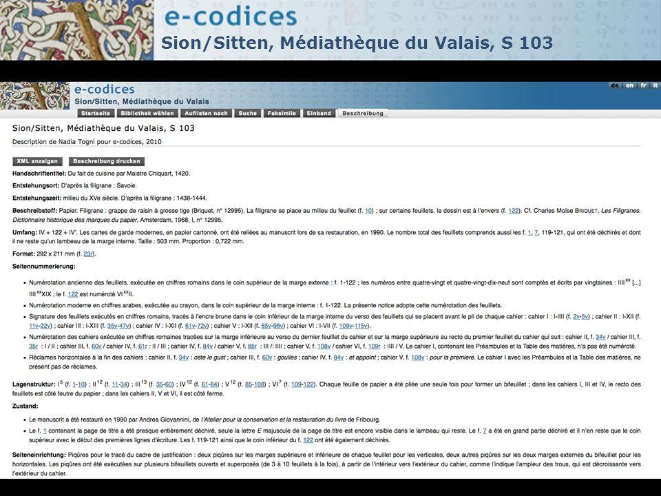 Sion/Sitten, Médiathèque du Valais, S 103