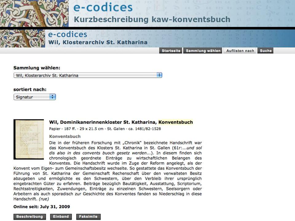 Kurzbeschreibung kaw-konventsbuch
