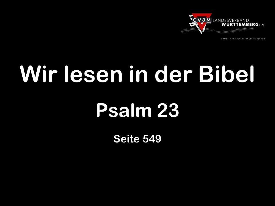 Wir lesen in der Bibel Psalm 23 Seite 549