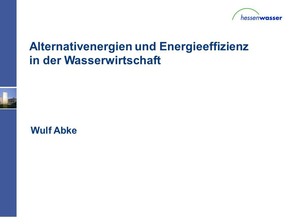 W - Alternativenergien und Energieeffizienz in der Wasserwirtschaft Wulf Abke