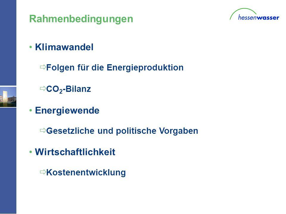 W - Klimawandel Folgen für die Energieproduktion CO 2 -Bilanz Energiewende Gesetzliche und politische Vorgaben Wirtschaftlichkeit Kostenentwicklung Ra