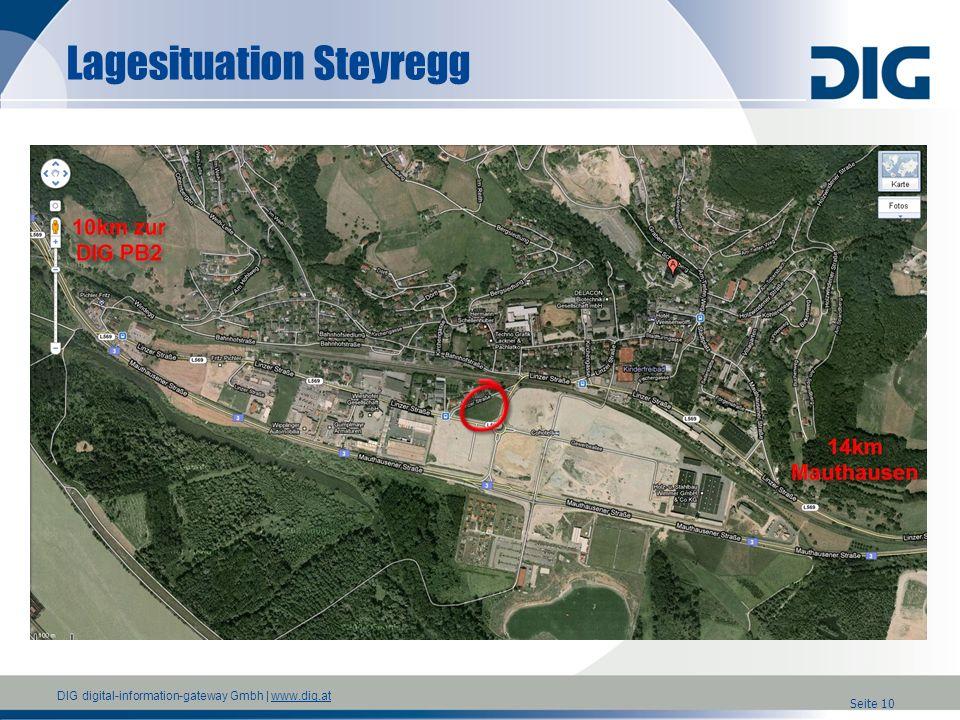 DIG digital-information-gateway Gmbh | www.dig.atwww.dig.at Lagesituation Steyregg Seite 10