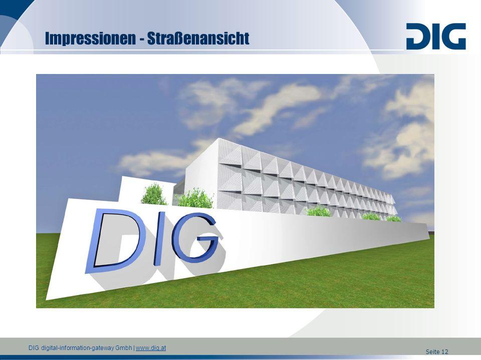 DIG digital-information-gateway Gmbh | www.dig.atwww.dig.at Seite 12 Impressionen - Straßenansicht