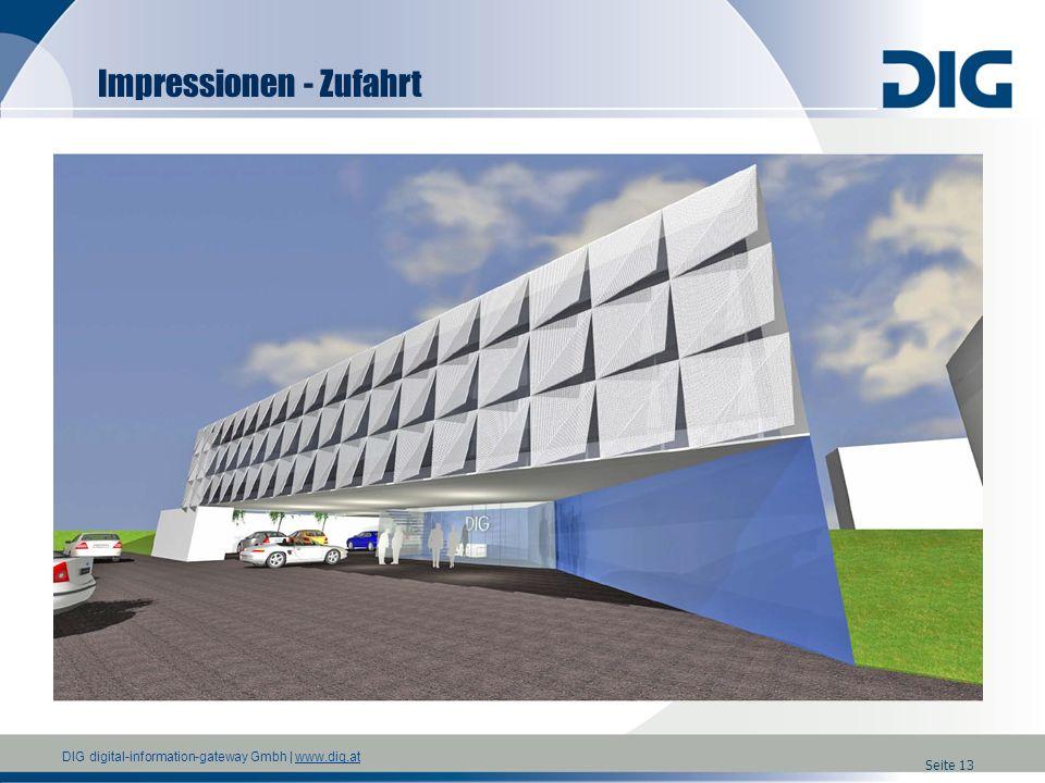 DIG digital-information-gateway Gmbh | www.dig.atwww.dig.at Seite 13 Impressionen - Zufahrt
