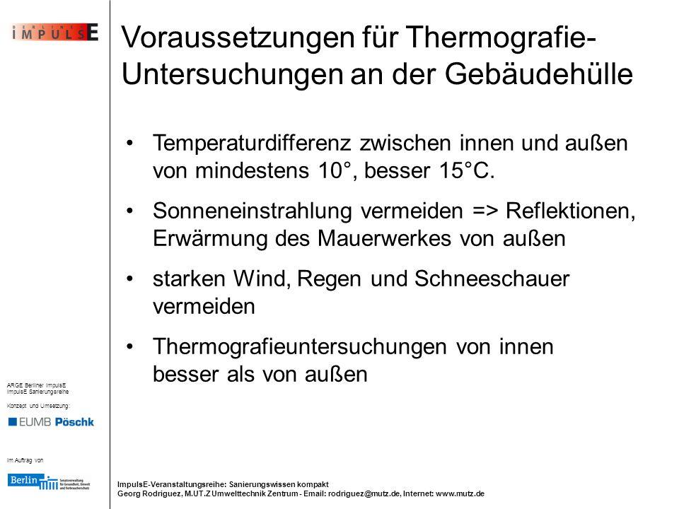 Im Auftrag von ARGE Berliner ImpulsE ImpulsE Sanierungsreihe Konzept und Umsetzung: ImpulsE-Veranstaltungsreihe: Sanierungswissen kompakt Georg Rodrig