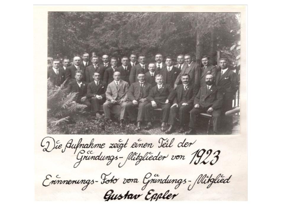 Vereinsgründung am 27.Januar 1923 (Kaisergeburtstag) Gründungsmitglieder waren 21 ehemalige Angehörige der kaiserlichen Marine Gründungsvorsitzender R