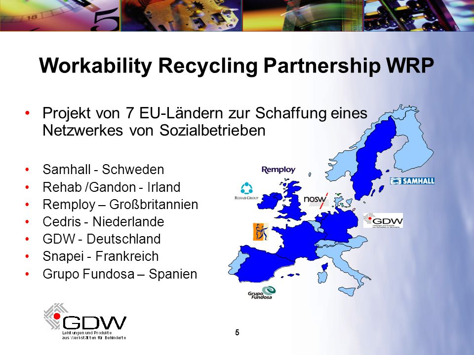 6 Ziele des europäischen Netzwerkes Sicherung bzw.
