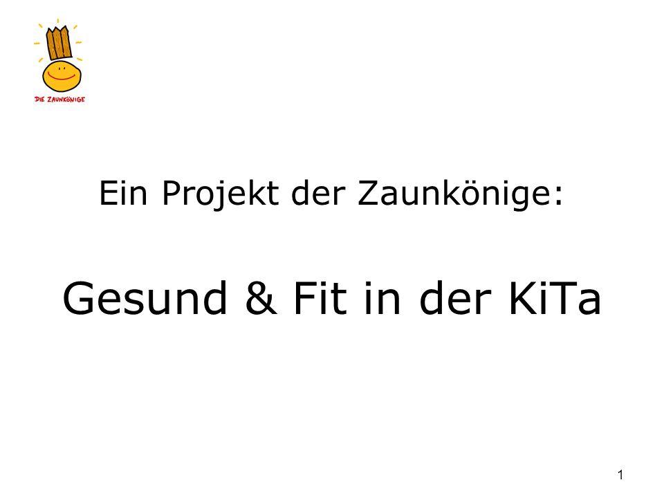 Gesund & fit in der KiTa 1 Ein Projekt der Zaunkönige: Gesund & Fit in der KiTa