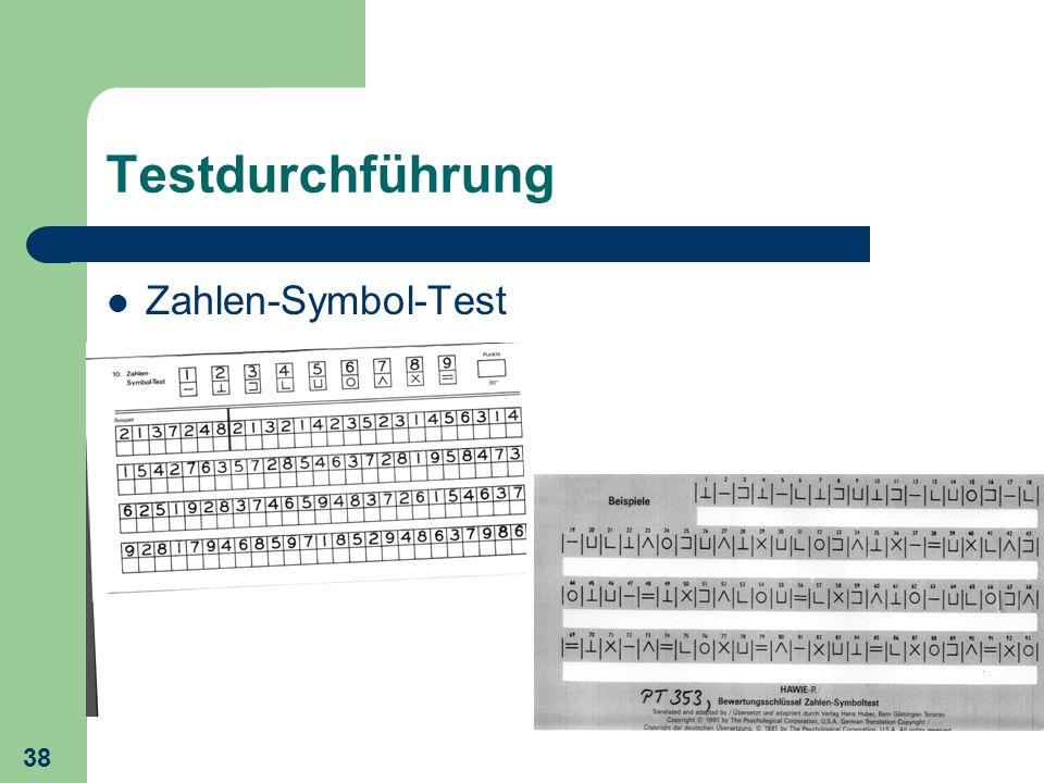 38 Testdurchführung Zahlen-Symbol-Test