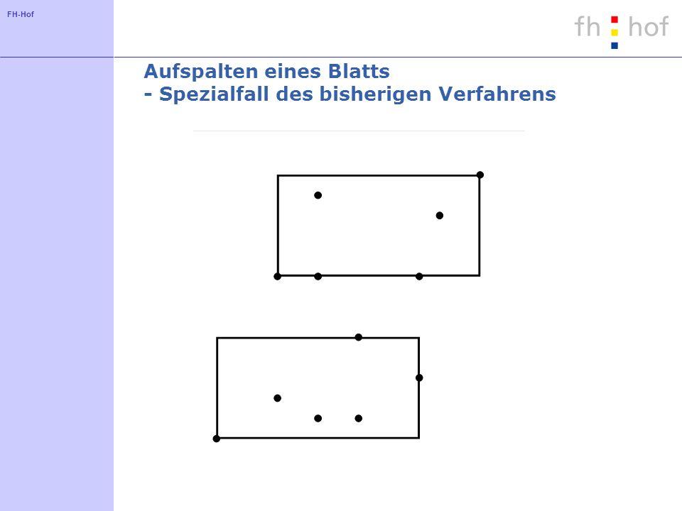 FH-Hof Aufspalten eines Blatts - Spezialfall des bisherigen Verfahrens