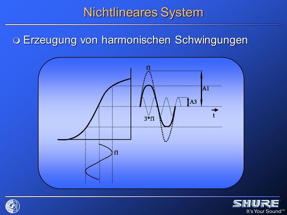 Nichtlineares System Erzeugung von harmonischen Schwingungen Erzeugung von harmonischen Schwingungen