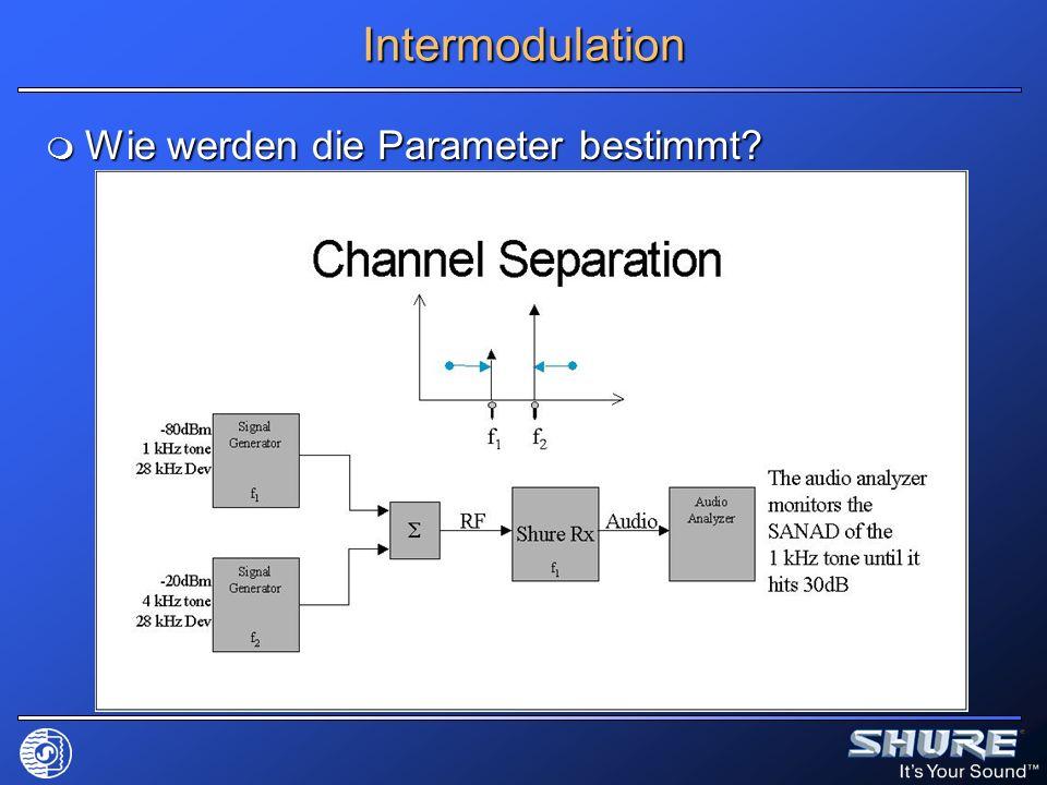 Intermodulation Wie werden die Parameter bestimmt? Wie werden die Parameter bestimmt?