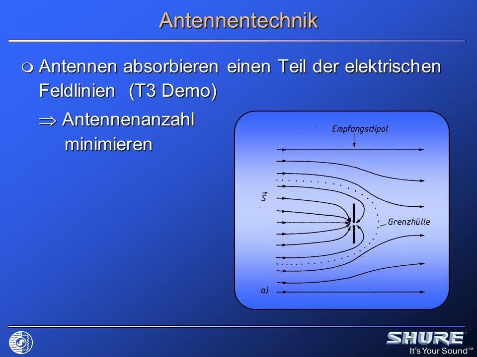 Antennentechnik Antennen absorbieren einen Teil der elektrischen Feldlinien (T3 Demo) Antennen absorbieren einen Teil der elektrischen Feldlinien (T3