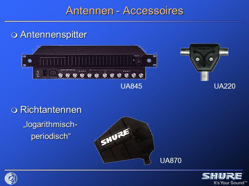 Antennenspitter Antennenspitter Richtantennen Richtantennen logarithmisch- periodisch Antennen - Accessoires UA845UA220 UA870